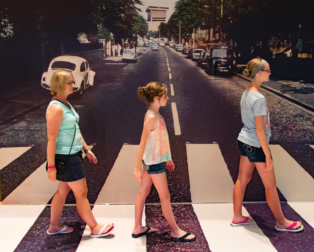 Beatles Exhibit fun at the LBJ Presidential Library.