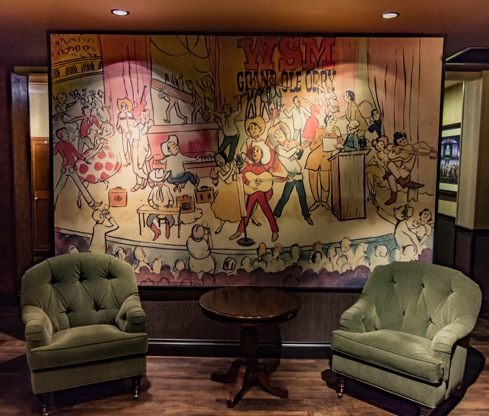 This is a mural painted by Archie Campbell.  It's a beauty.  I didn't know who he was until they said he was on Hee Haw.  I know me some Hee Haw.  You met another and *pffft* you was gone...