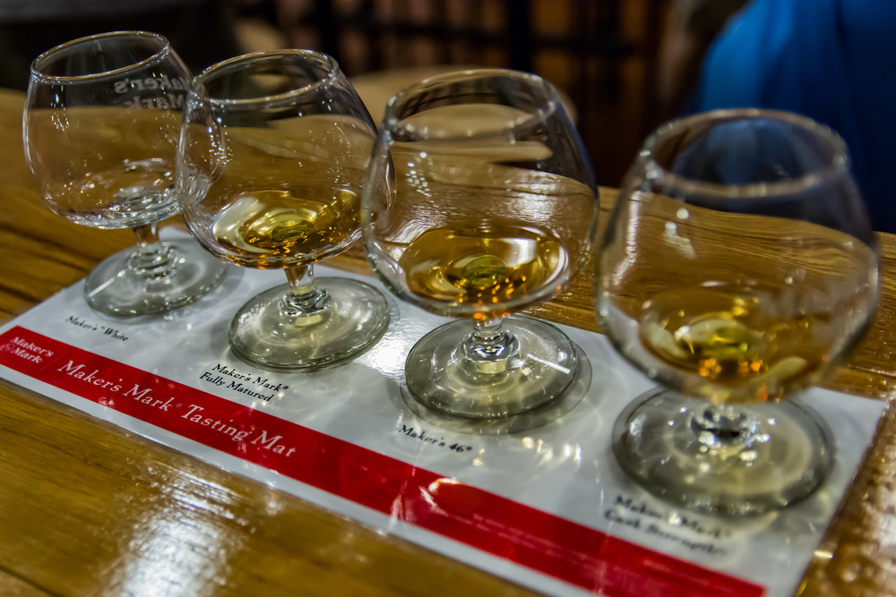 Bourbon tasting?  Yes, please.  Mag and MK watched patiently.