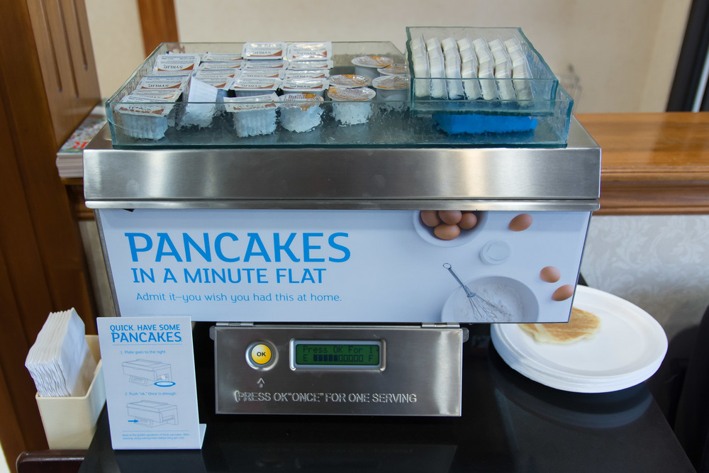 Holiday Inn pancake machine. We will be OK if we never see one of these again :-)