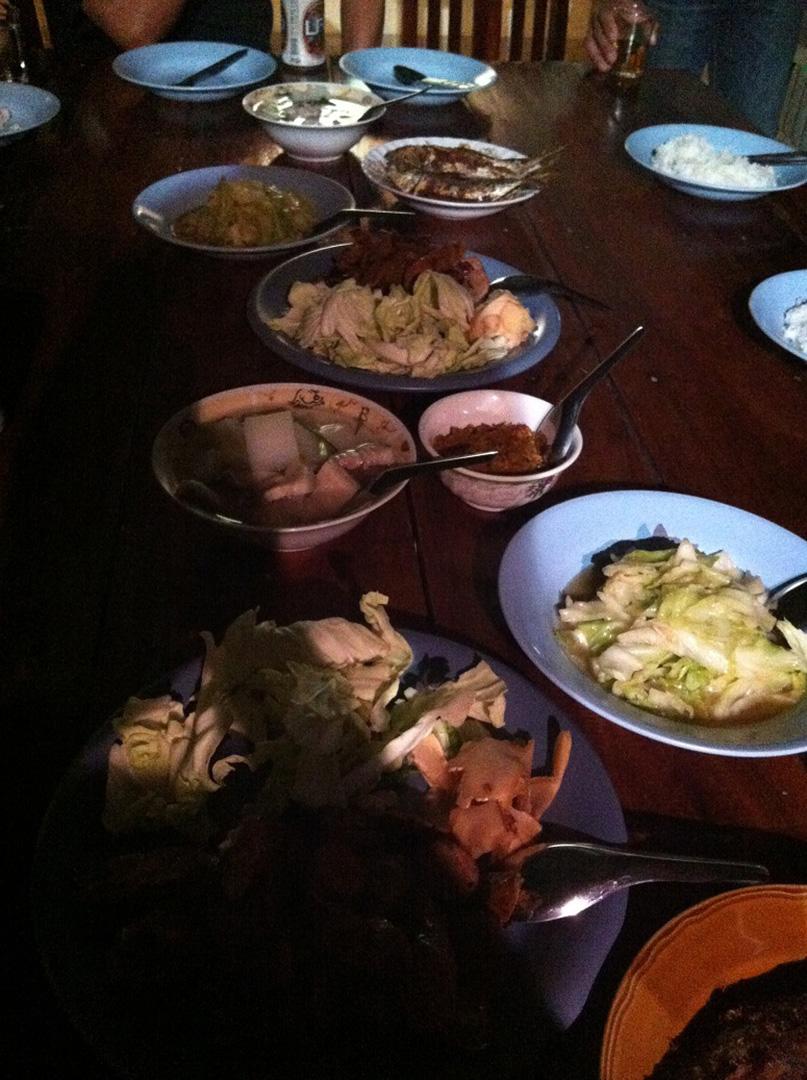 Homemade dinner, graciously provided by Pattanarak staff