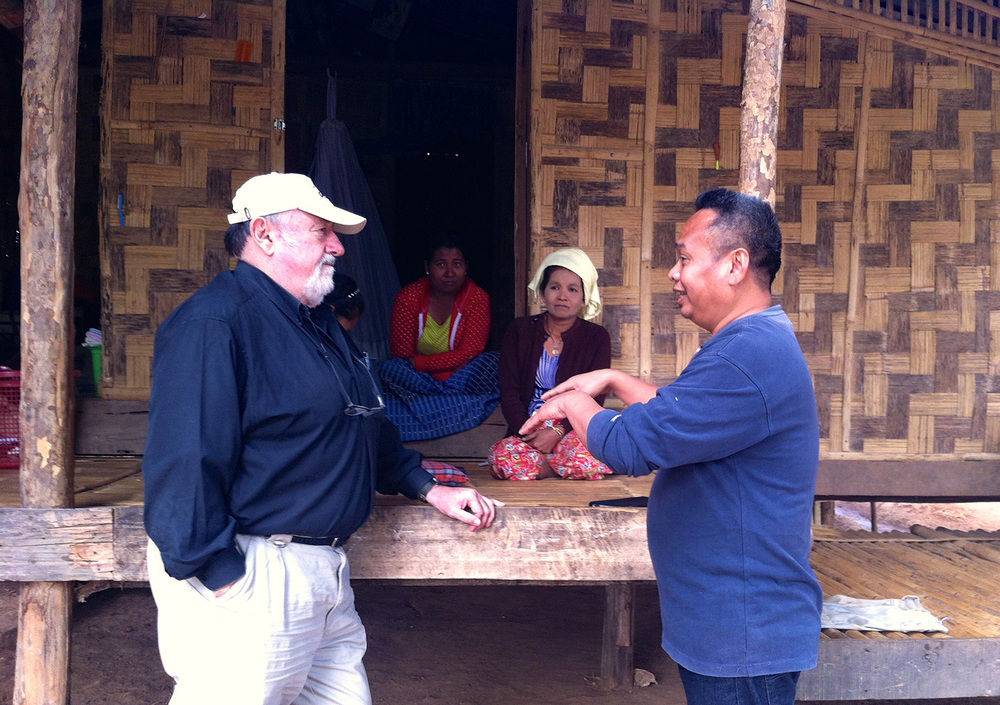 Asking the locals about mother and children healthcare (Ban Mai community)