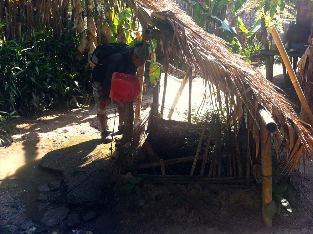 An unprotected well (Mong Sa Tur community)