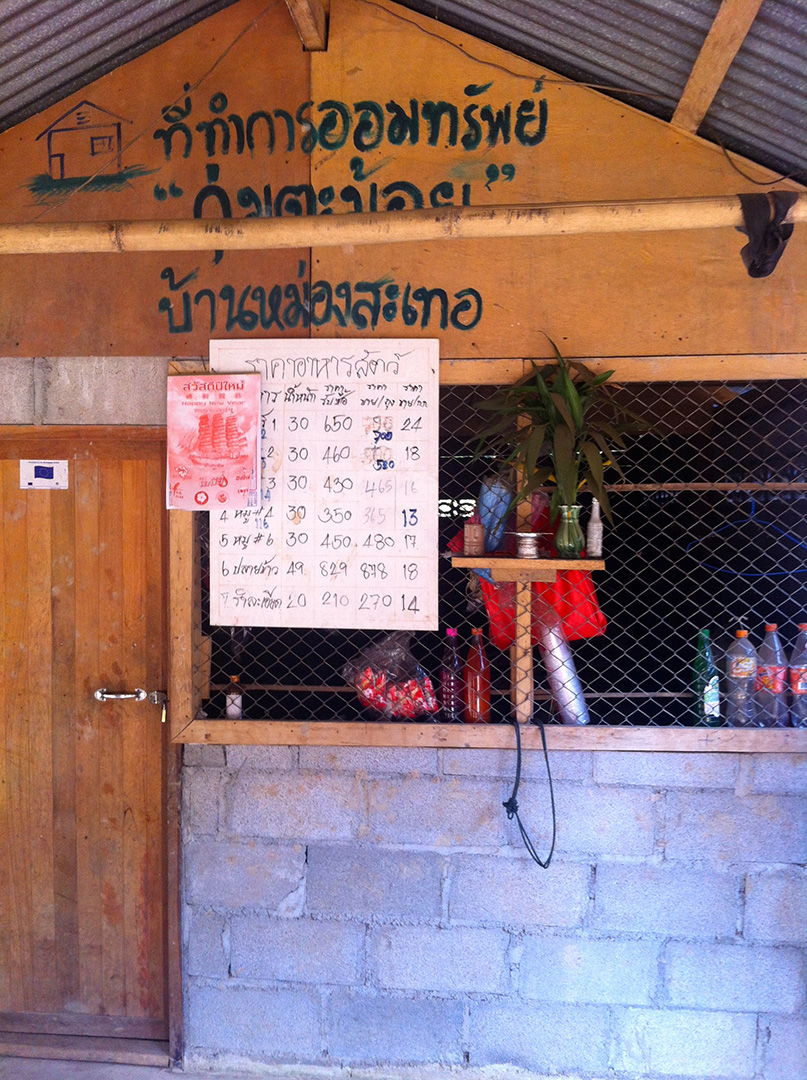 An office of the community saving group that also serves as a store (Mong Sa Tur community)