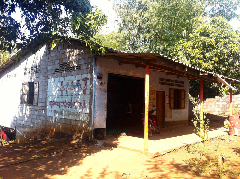 "Pattanarak's ""Health House"" that serves as a center for the work related to day-laborers from Myanmar (Three Pagoda Pass border-crossing point)"