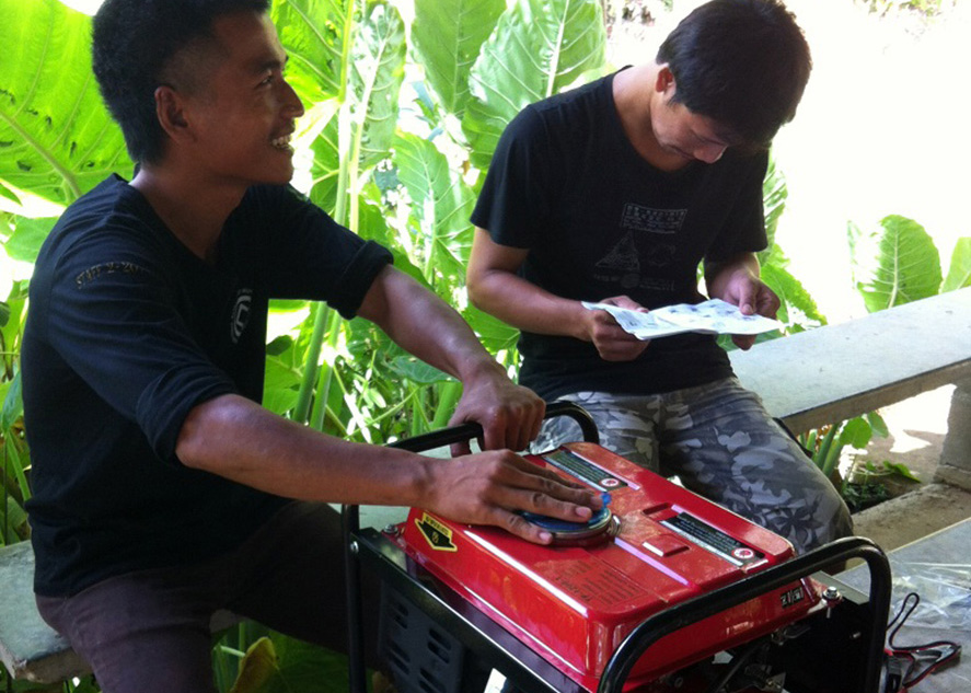 Setting up a backup power generator for the disinfection study