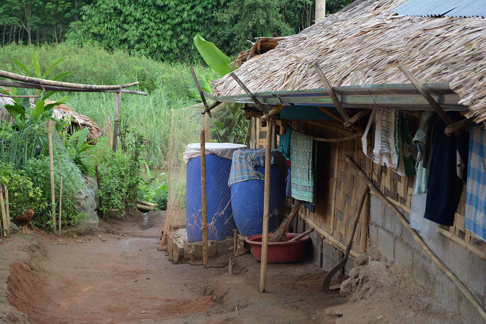 Another house collecting rainwater in Ban Mai.