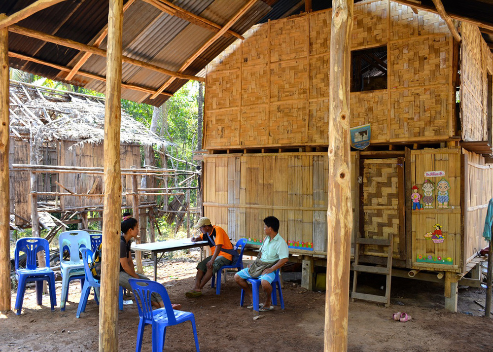 This household in Moraka also served as a site for after-school lessons for about 50 children in nearby communities.