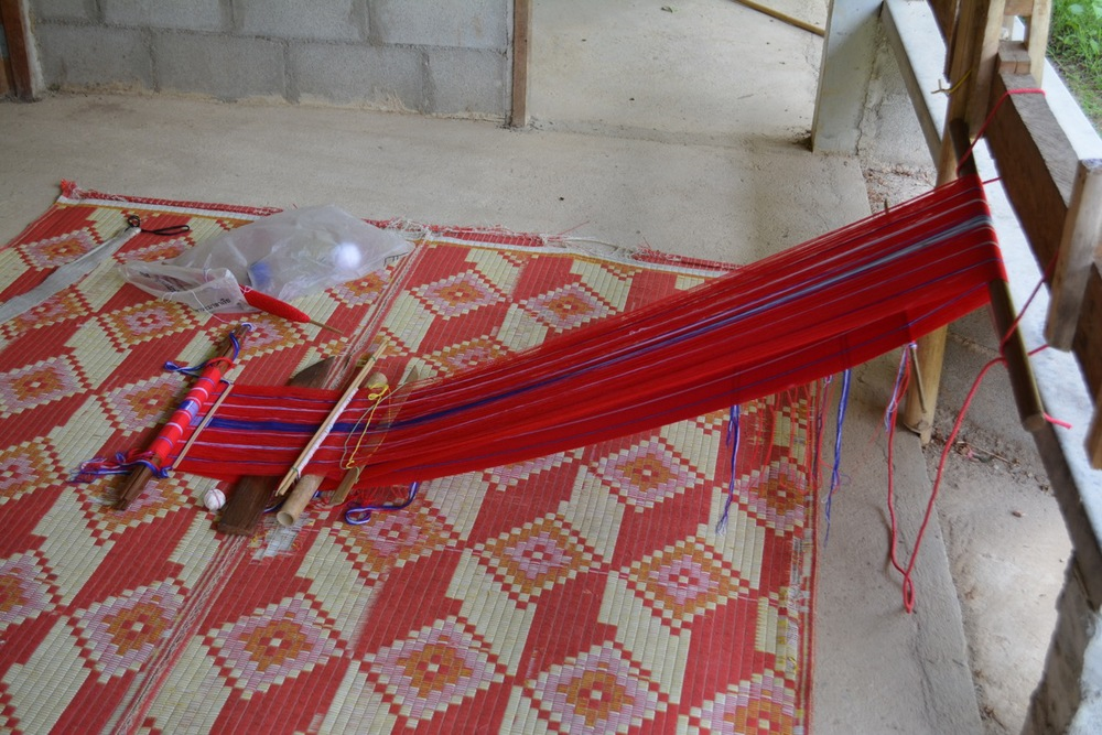 The store also had spaces for traditional cloth weaving, another product of the saving group.