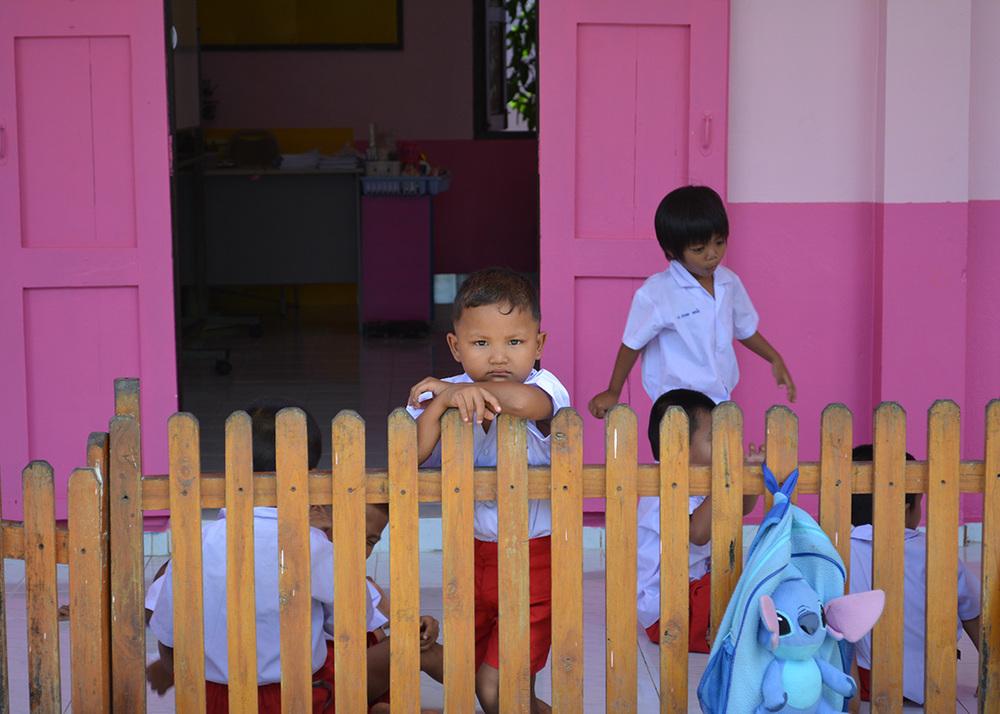 School students during lunch break