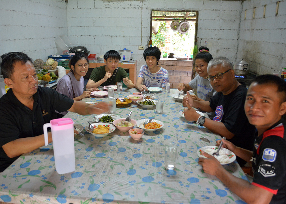Intern students from Mahidol University came along on this trip to learn more about the project at the actual site.