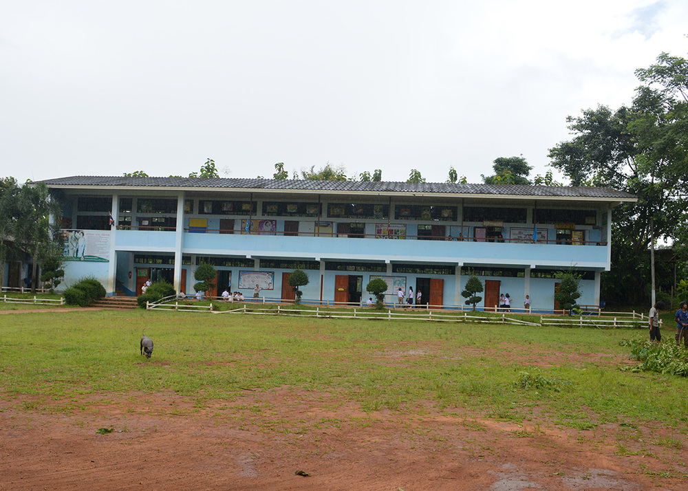 Ban Mai school, where we conducted hands-on learning activities to teach the students about drinking water safety, treatment methods, and hygiene