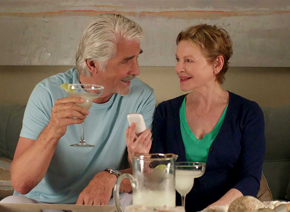 Bucky (James Brolin) & Deanna (Dianne Wiest) attempt to retire in SISTERS. K. C. Bailey / Universal Pictures