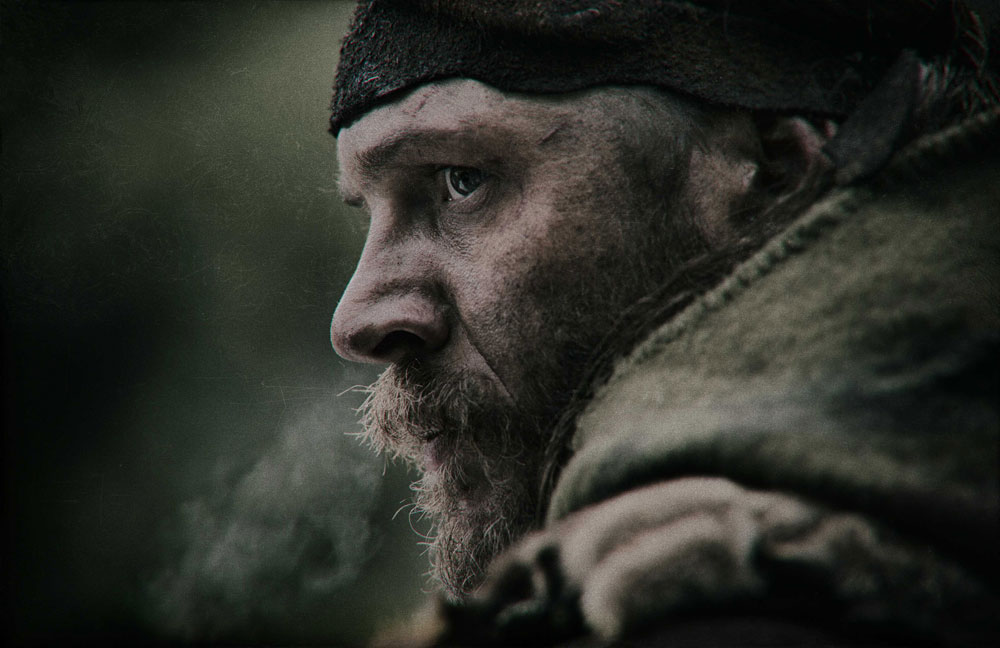 Tom Hardy in THE REVENANT. Photo by Jason Bell