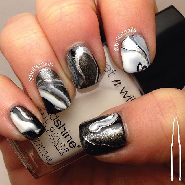 my black and white drip marble nails. i love the way these turned out! #blackandwhite #dripmarble #crumpetsnailtarts #26greatnailartideas #26gnai #nails #nailart #mani #manicure #nailswag #nailporn #nailsbyme #naildesign #nailsofinstagram #nailartaddict #polishaddict  #allthehashtags