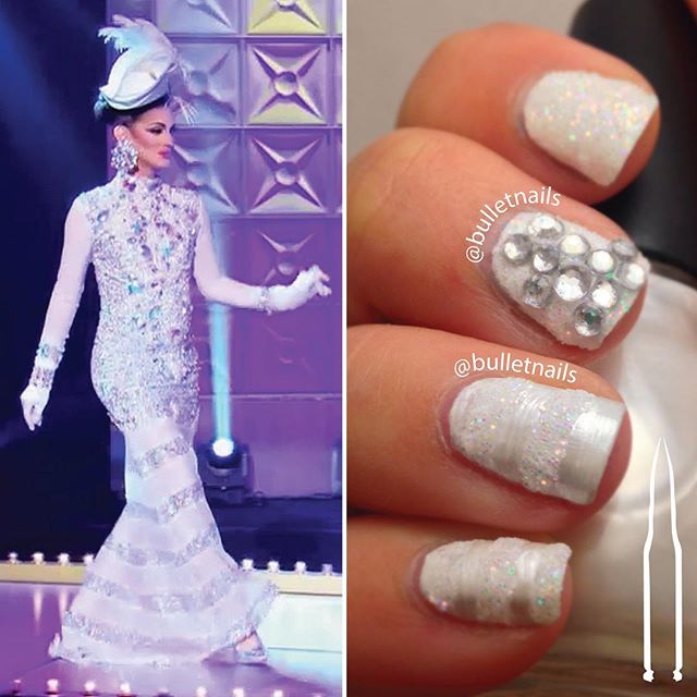 yay! #cynthialeefontaine is back!! and looking like a sparkly #scarlettohara :) •• #RuPolished #cuckooforthatcucu #welcomeback #rupaulsdragrace #rupaul #dragrace #werk #cucu #dragqueen #RuPolish #rupaulish