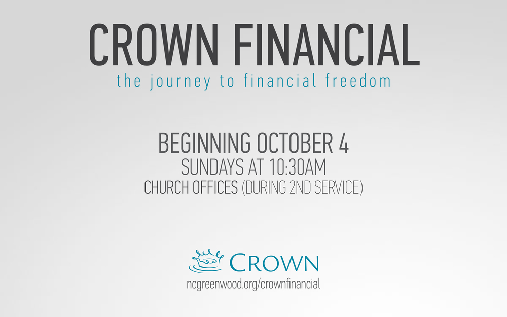 New Covenant is please to offer a Crown Financial class again this Fall for anybody that is interested in getting their financial house in order through solid biblical principles. Paul and Lauren Bagnoli have led this study for years and have helped so many couples and individuals take control of their finances. Follow the link and you will find some information about the program from the Crown Financial website.