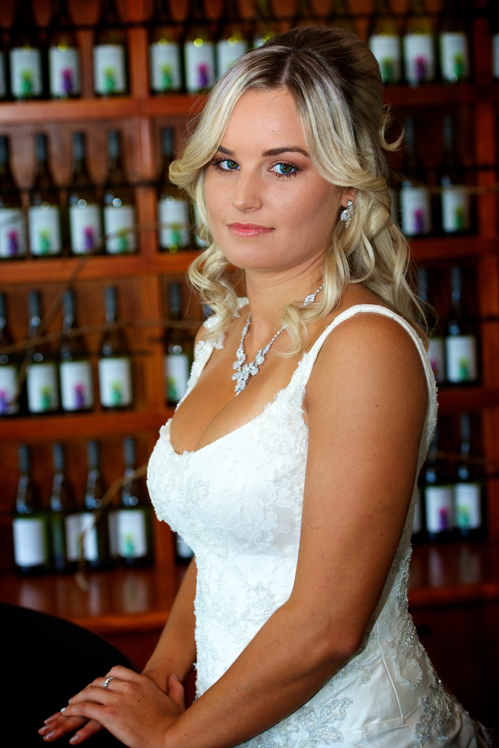 A stunning bridal image of a bride at Mulberry on Swan, Swan Valley