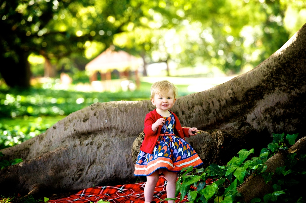 The big trees offer great background for family photos in Hyde Park Perth