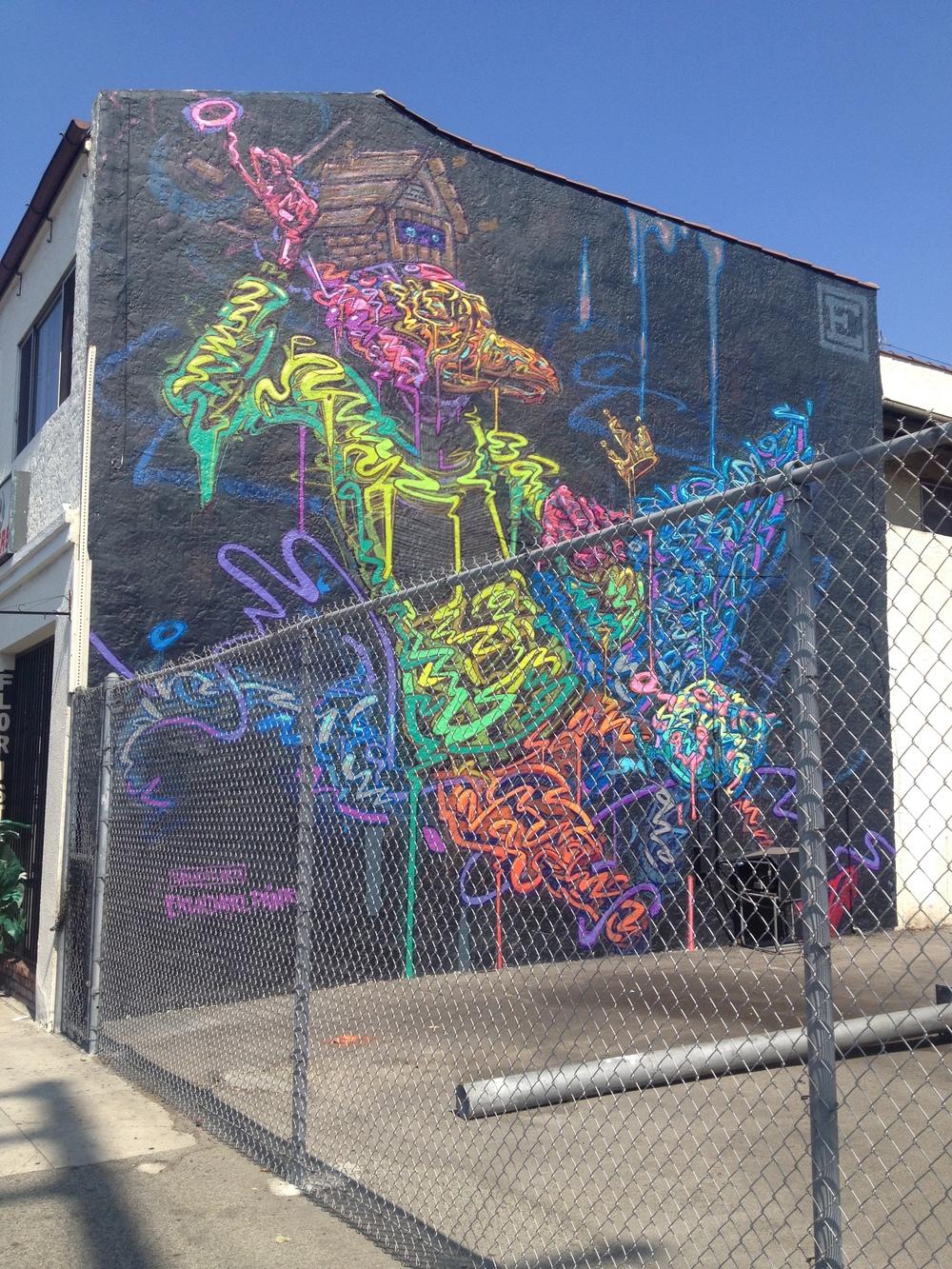 street art- los angeles: adams x labrea