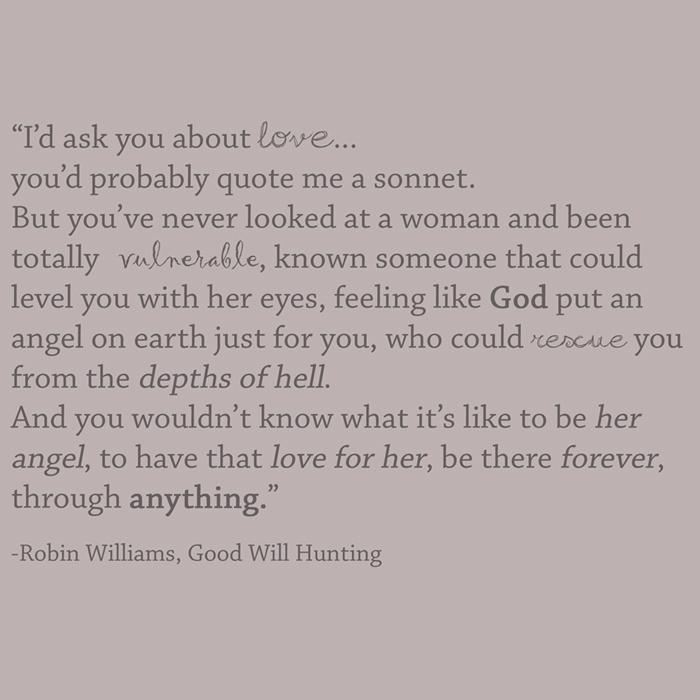 good will hunting. — milk + honey