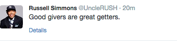 russell simmons' twiter, oct 21 2014