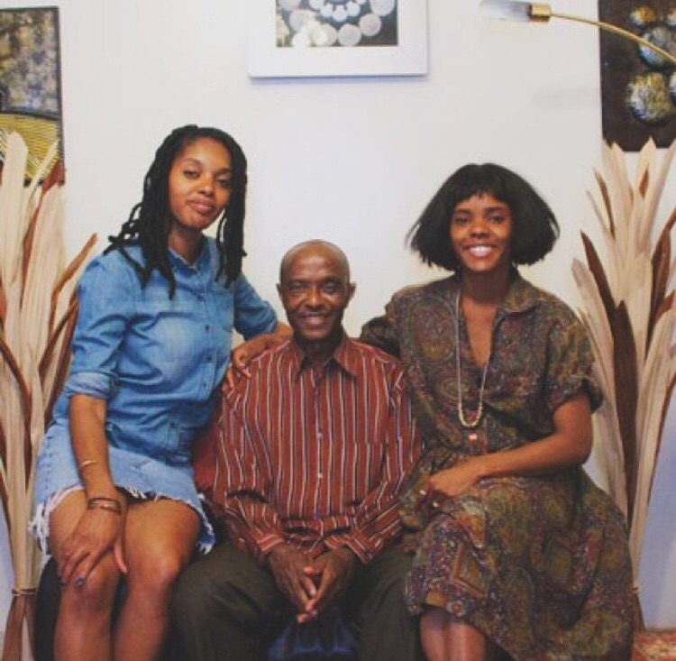 Darlene & Lizzy with their dad, William Okpo