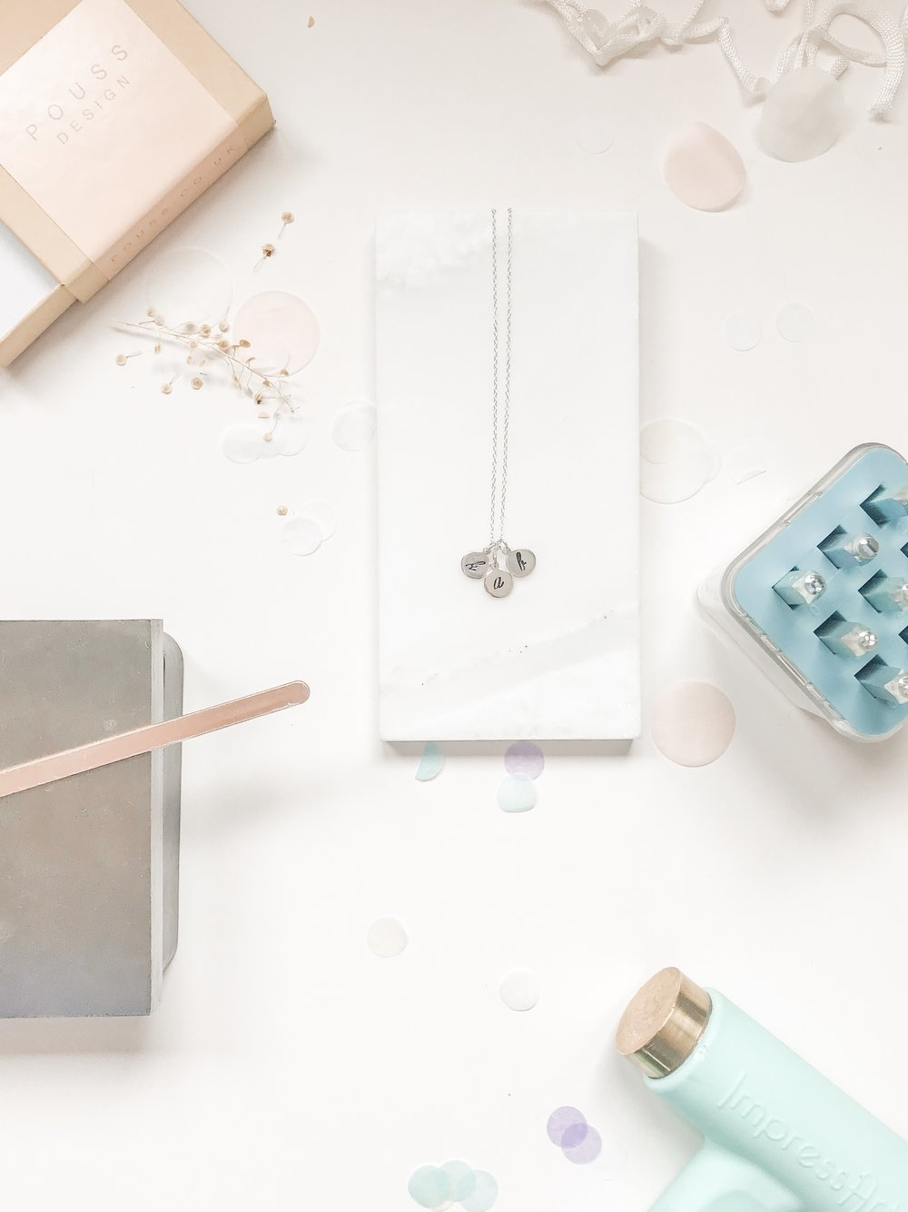Make your own personalised initial necklace in my workshop this December 2018