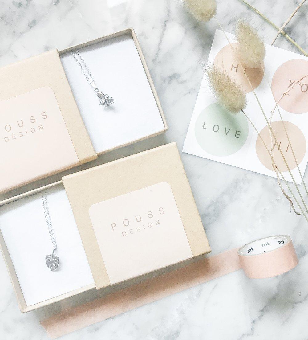 silver charm necklaces Pouss Design