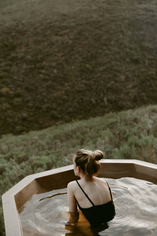 wood fired hot tub getaway