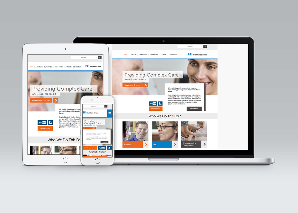 Healthcare at Home: Responsive site