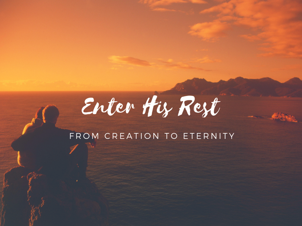 "This blog series is from the ""Enter His Rest"" Fall Sermon Series at Vienna SDA Church preached by Pastor CJ Cousins."