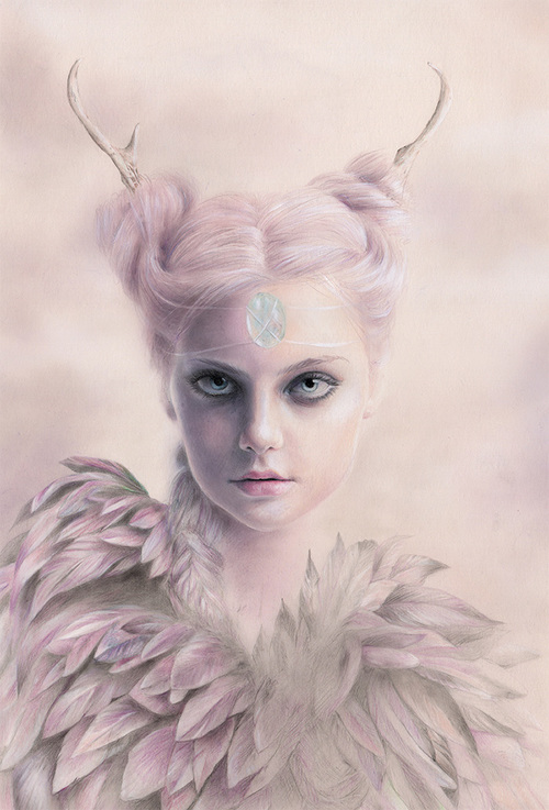 Sacred . Pencil and pastel on paper . 21 x 28 cm . Beautancia Solo . Thinkspace Gallery, Culver City, US