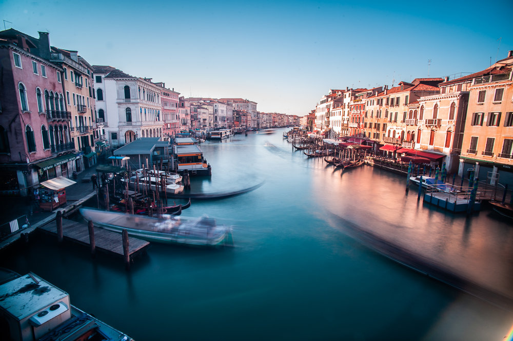 Venice canal from Realto Bridge
