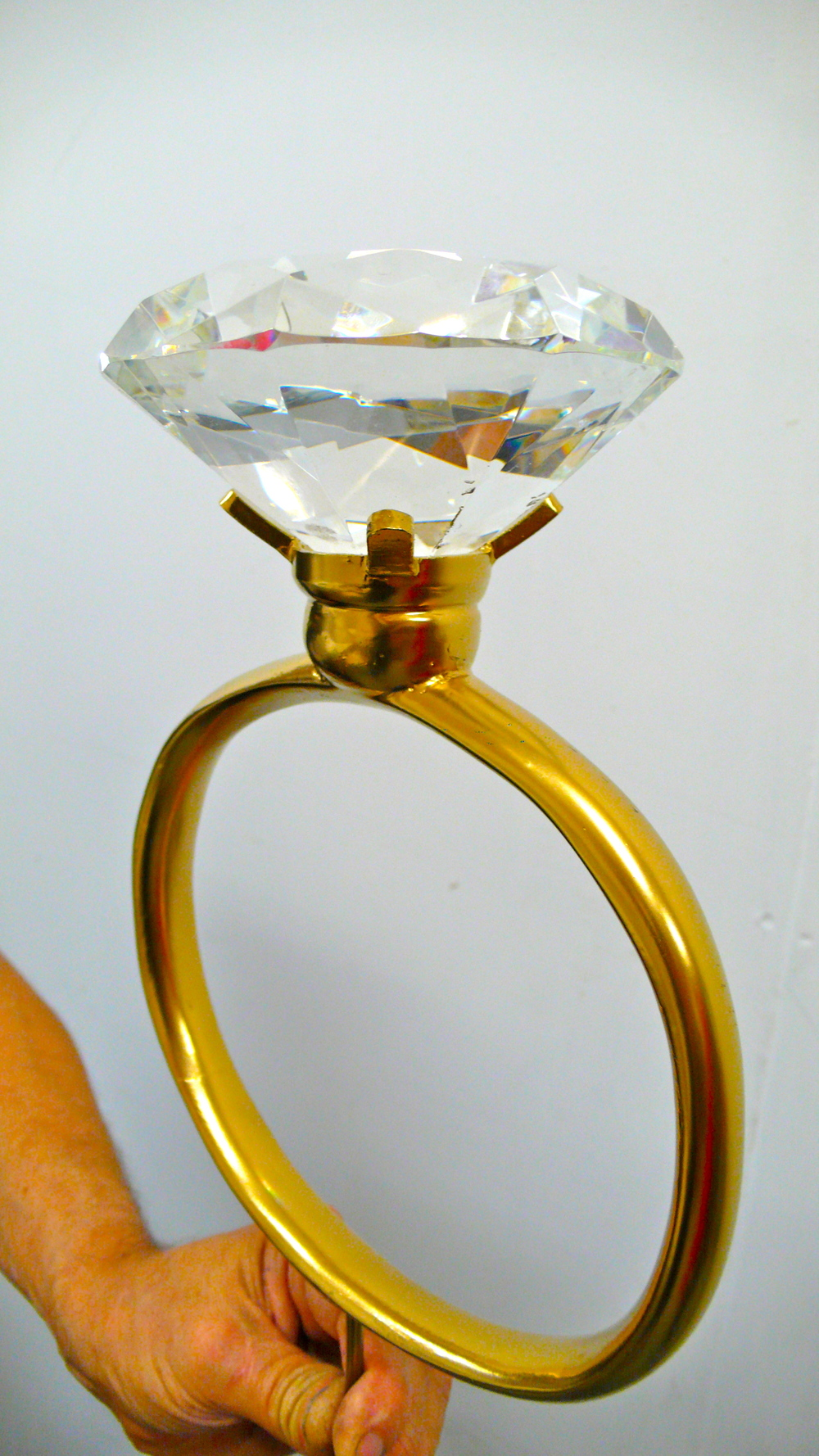 Giant wedding ring.  Made by Lewis Morley Jr.
