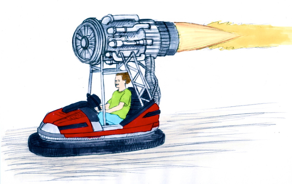 "Concept illustration of ""Demolition Dodgem"""