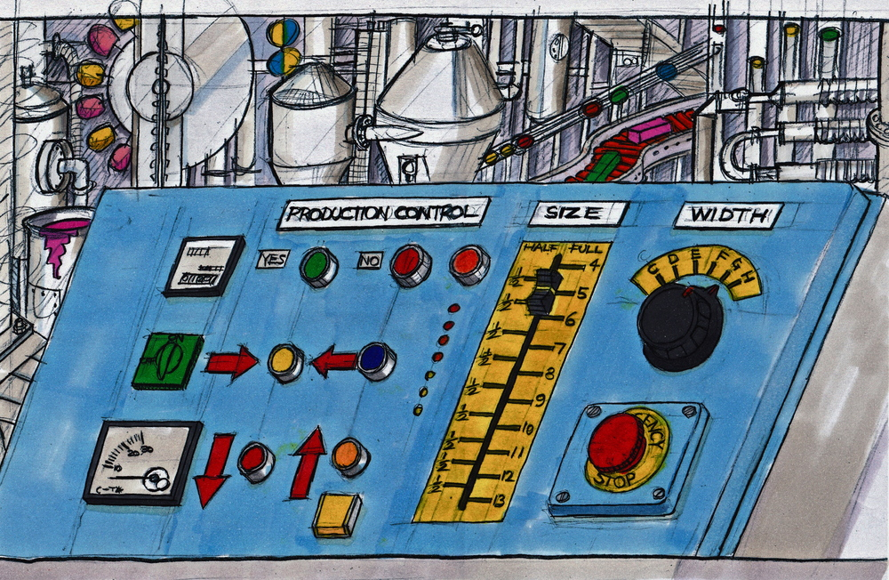 concept illustration of control panel