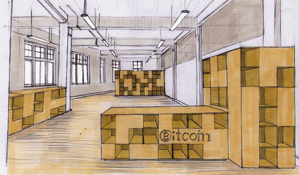 Concept for BitCoin office fit out and design