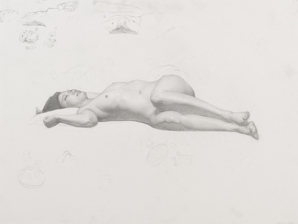 Reclining Nude. 18x24. Graphite on paper.