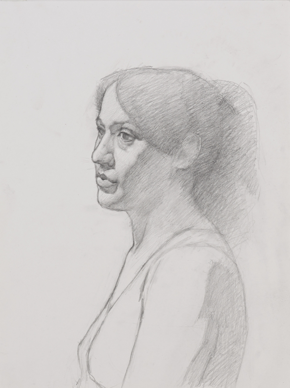 Portrait of a girl. 9x12. Graphite on paper.