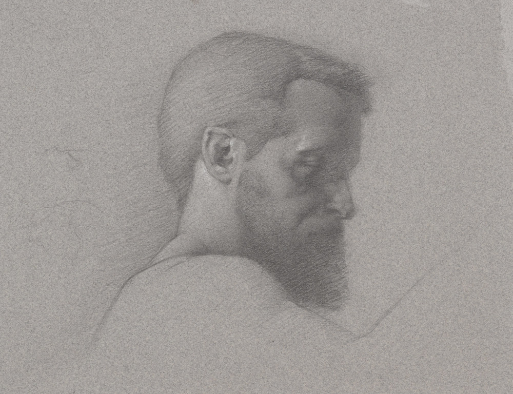 John. 9x12. Graphite on toned paper.