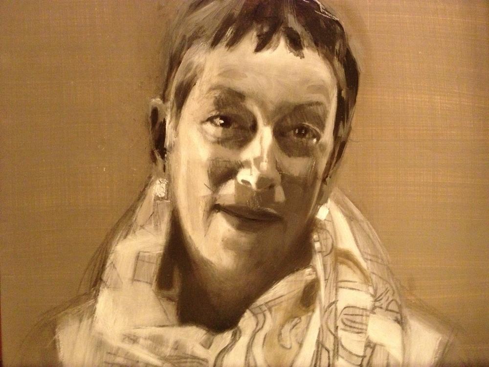Oil on wood panel  11 x 14 inches Tarek Ashkar,2014