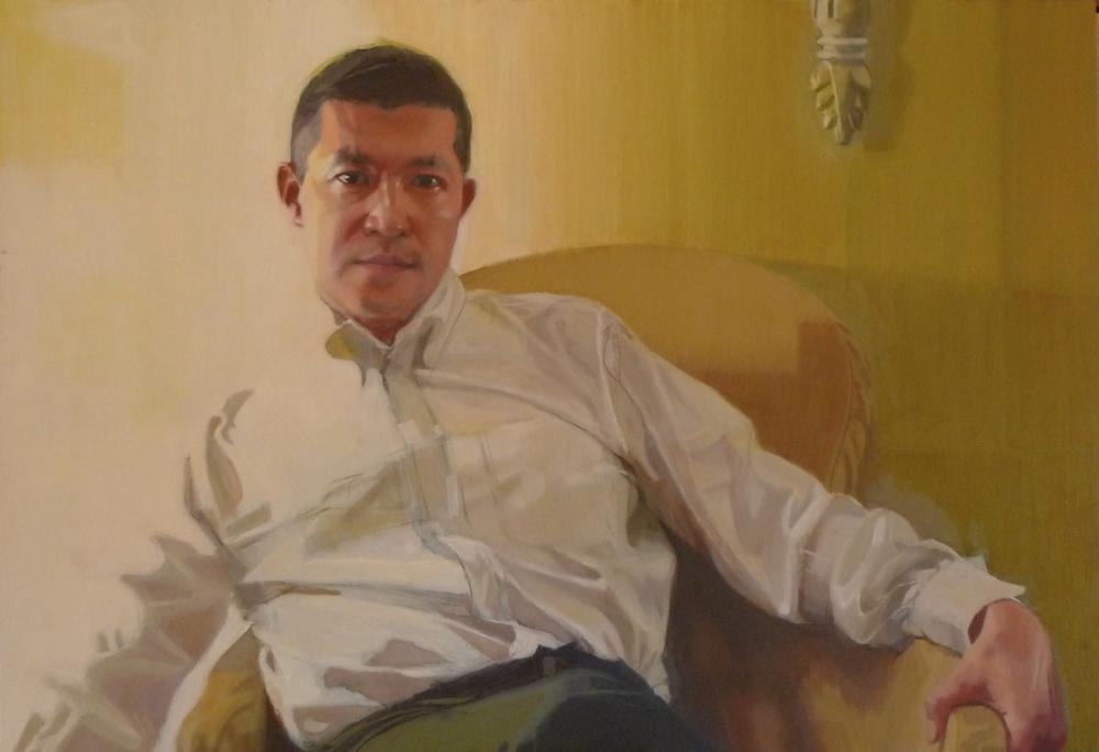 Oil on wood panel  24 x 36 Tarek Ashkar,2014