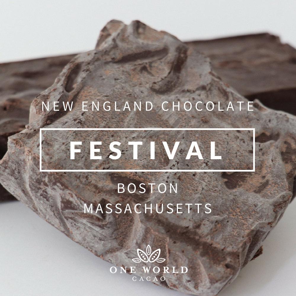 New England Chocolate Festival  Boston, Massachusetts · Weekend of October 13-14, 2018