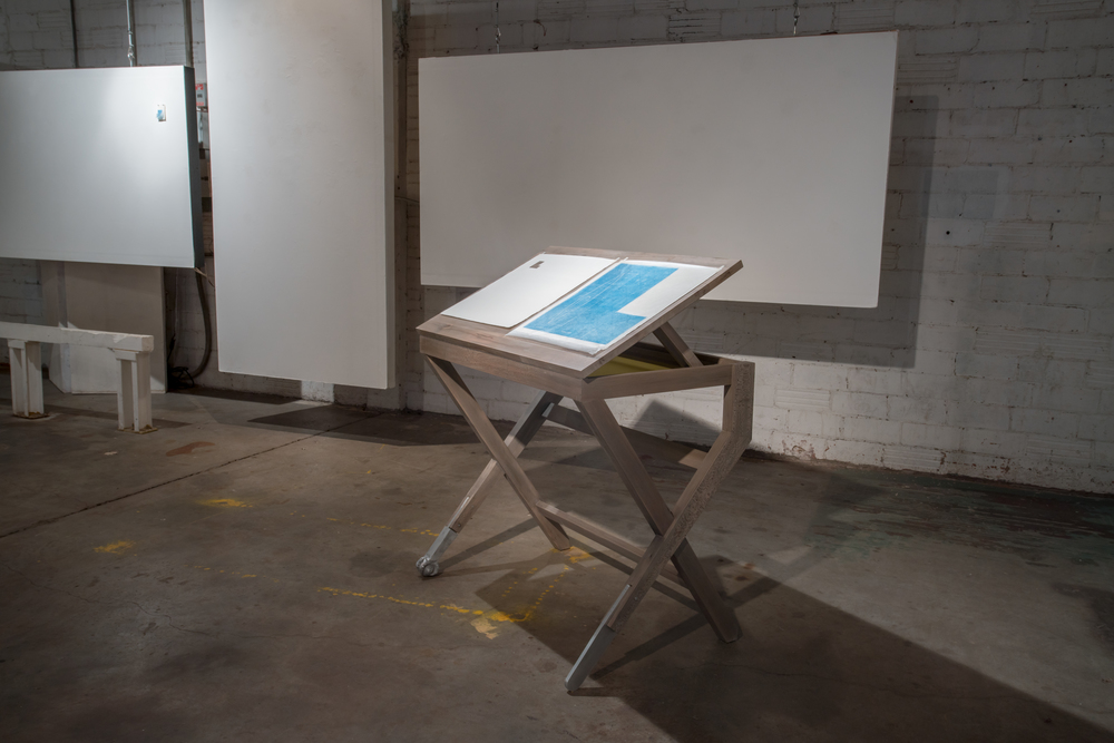 Installation view of  Bigness and Smallness  and  Draft