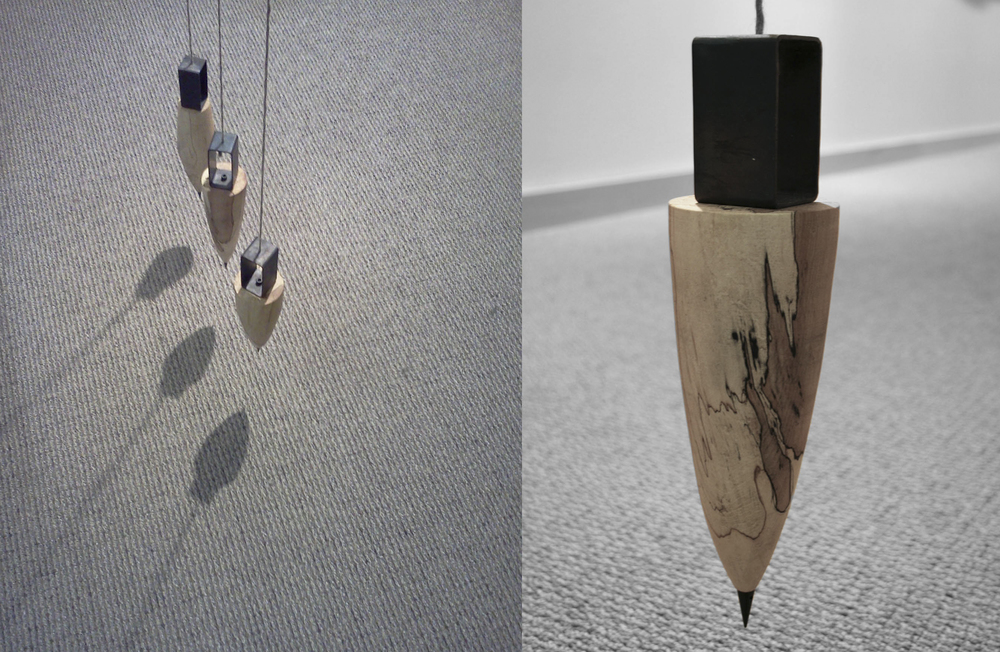 Plumb Bobs, lines by gravity: 2013 in collaboration with  Noel Fountain .