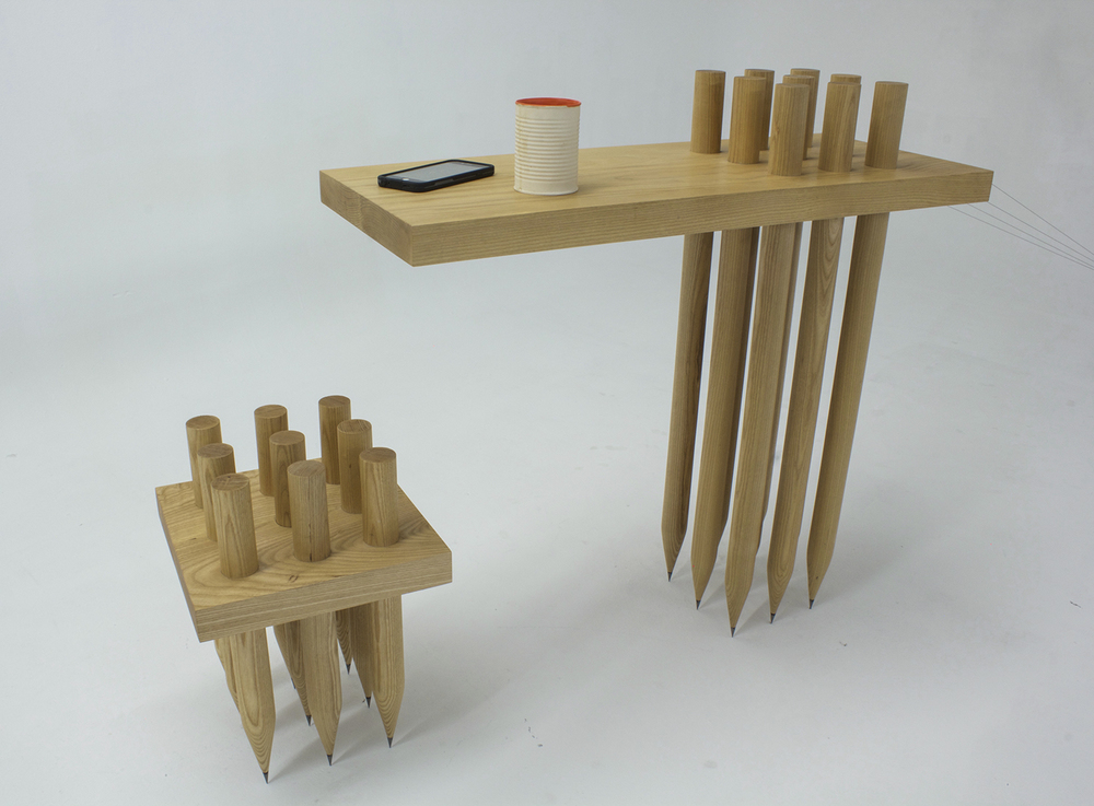Counterpoise:  Table and chair reimagined. 2014