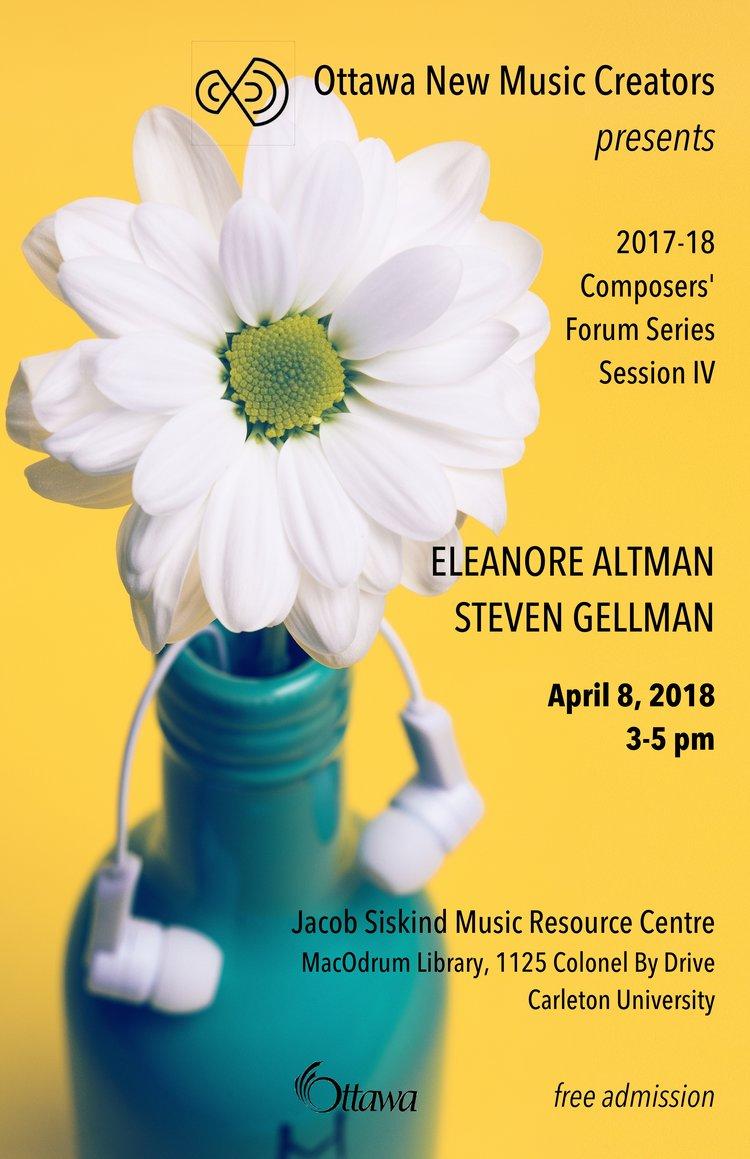 April Forum — Ottawa New Music Creators