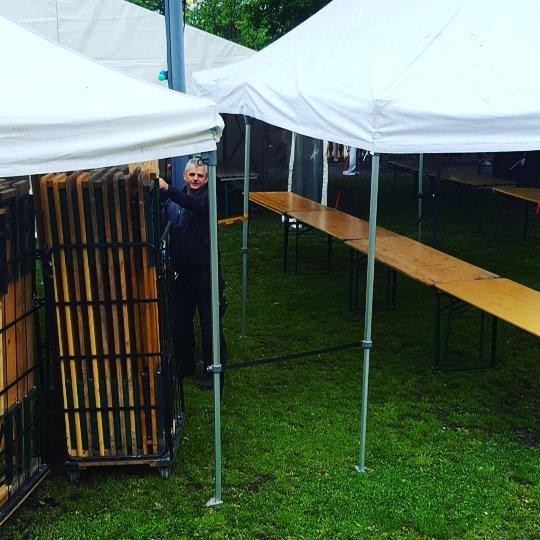 Förberedelserna är i full gång inför kvällens event i trädgården! 👌 #scandichasselbacken #restauranghasselbacken #Djurgården