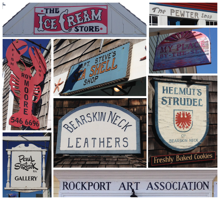 Signs I found along Bearskin Neck in Rockport, MA
